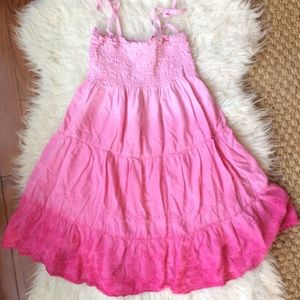 Ombré pink and sequin dress size 6x